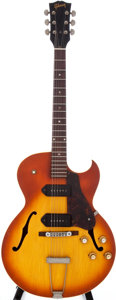 Musical Instruments:Electric Guitars, 1965 Gibson ES-125CD Sunburst Semi-Hollow Electric Guitar, Serial#363150....