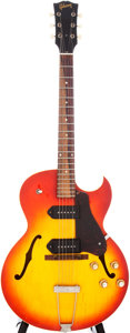 Musical Instruments:Electric Guitars, 1965 Gibson ES-125TCD Cherry Sunburst Semi-Hollow Electric Guitar,Serial # 335071....