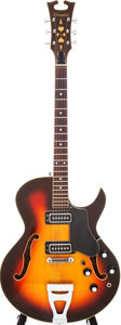 Musical Instruments:Electric Guitars, 1970s Standel Model 430-S Sunburst Semi-Hollow Electric Guitar,Serial # 1013H....