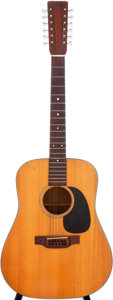 Musical Instruments:Acoustic Guitars, 1974 Martin D-12-18 Natural Acoustic Guitar, Serial # 348494....