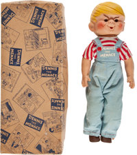 Dennis the Menace Doll and Original Box (Glad Toy Co., c. 1953)