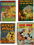 Memorabilia:Disney, Mickey Mouse Library and Toy (Walt Disney, 1935).... (Total: 4 Items)