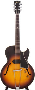 Musical Instruments:Electric Guitars, 1957 Gibson ES-225T Sunburst Semi-Hollow Electric Guitar, Serial #U91113....