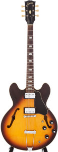 Musical Instruments:Electric Guitars, 1974/75 Gibson ES-335 Sunburst Semi-Hollow Electric Guitar, Serial#397212....