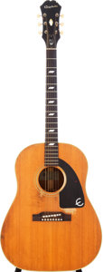 Musical Instruments:Acoustic Guitars, 1965 Epiphone FT-79N Texan Natural Acoustic Guitar, Serial #274926....