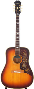 Musical Instruments:Acoustic Guitars, 1954 Epiphone FT-110 Frontier Sunburst Acoustic Guitar, Serial #67008....