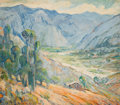 Fine Art - Painting, American, OTTO HENRY SCHNEIDER (American, 1865-1950). Mountain Valley withHouse. Oil on canvas. 30 x 35 inches (76.2 x 88.9 cm). ...