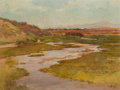 Fine Art - Painting, American, CHARLES ARTHUR FRIES (American, 1854-1940). Salt Marshes, Southof San Diego. Oil on canvas. 18 x 24 inches (45.7 x 61.0...