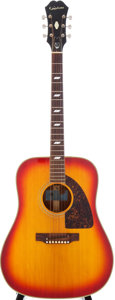 Musical Instruments:Acoustic Guitars, 1970 Epiphone El Dorado Sunburst Acoustic Guitar, Serial #905265....