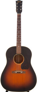 Musical Instruments:Acoustic Guitars, 1947 Gibson J-45 Sunburst Acoustic Guitar, Serial # 709....