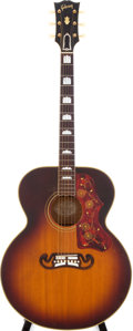 Musical Instruments:Acoustic Guitars, 1956 Gibson J-200 Sunburst Acoustic Guitar, Serial # A24008....