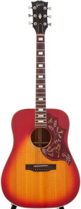 Musical Instruments:Acoustic Guitars, 1976 Gibson Hummingbird Sunburst Acoustic Guitar, Serial #00164362....