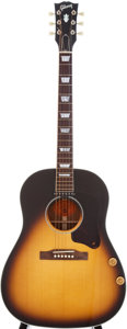 Musical Instruments:Acoustic Guitars, 1995 Gibson J-160E Sunburst Acoustic Electric Guitar, Serial # 93255028....