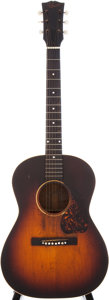 Musical Instruments:Acoustic Guitars, Late 1940s Gibson LG-3 Sunburst Acoustic Guitar....