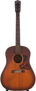 Musical Instruments:Acoustic Guitars, Late 1930s Gibson J-35 Sunburst Acoustic Guitar....
