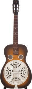Musical Instruments:Resonator Guitars, Mid-1930s Dobro 27-G Sunburst Resonator Guitar, Serial # 6955. ...