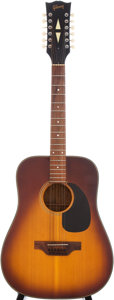 Musical Instruments:Acoustic Guitars, 1970 Gibson B45-12 Sunburst 12-String Acoustic Guitar, Serial # 626852....