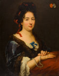 Paintings, Circle of ALEXIS-SIMON BELLE (French, 1674-1734). Portrait of a Seated Lady, circa 1750. Oil on canvas. 30 x 24 inches (...