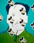 Post-War & Contemporary:Contemporary, WANG ZIWEI (Chinese, b. 1963). Mickey on Mao, 1993/1994.Acrylic on canvas . 57-1/2 x 46-1/2 inches (146.1 x 118.1 cm). ...