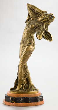 A FRENCH PATINATED BRONZE SCULPTURE BY DEMETRE CHIPARUS (ROMANIAN,1886-1947): THE FAVORITE