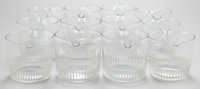 TWELVE GEORGE III GLASS RINSE BOWLS Early 19th century 3-3/4 inches high (9.5 cm)
