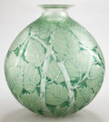 Art Glass:Lalique, A R. LALIQUE CLEAR AND FROSTED GLASS VASE: MILAN . Circa1929. Marks: R. LALIQUE. 11 inches high (27.9 cm). ...