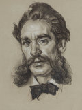 Fine Art - Work on Paper:Drawing, DEAN CORNWELL (American, 1892-1960). Portrait of a Man.Charcoal on paper . 13 x 10 inches (33.0 x 25.4 cm). Artist's es...
