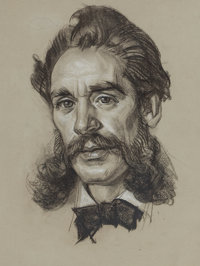 DEAN CORNWELL (American, 1892-1960) Portrait of a Man Charcoal on paper 13 x 10 inches (33.0 x 2