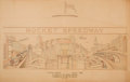 Fine Art - Work on Paper:Drawing, SAMUEL HOWELL (American, 20th Century). Architect Rendering:Rocket Speedway, 1935. Pencil on paper . 25-1/2 x 40-1/2 in...
