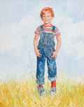 Fine Art - Painting, American:Contemporary   (1950 to present), JOYCE BALLANTYNE (American, 1918-2006). Little Boy Standing in aField. Oil on canvas . 30 x 24 inches (76.2 x 61.0 cm)...
