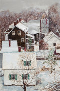 Fine Art - Painting, American:Contemporary   (1950 to present), J.S. CAIN (American, 20th Century). A View From My Window,1972. Oil on canvas. 36 x 24 inches (91.4 x 61.0 cm). Signed ...