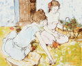 Fine Art - Painting, European:Contemporary   (1950 to present)  , BERNARD DUFOUR (French, b. 1922). The Picnic. Mixed media oncanvas . 14 x 18 inches (35.6 x 45.7 cm). Signed lower righ...
