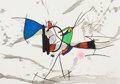 Fine Art - Work on Paper:Print, JOAN MIRÓ (Spanish, 1893-1983). Le Cri du Coq de Bruyère ,1973. Etching and aquatint printed in colors. 18-1/2 x 25-1/2...