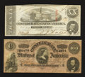 Confederate Notes:1863 Issues, T58 $20 1863.. T65 $100 1864.. ... (Total: 2 notes)
