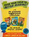 Memorabilia:Comic-Related, Classic Illustrated Advertising Poster (Gilberton, c. 1951)....