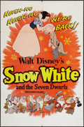 "Movie Posters:Animation, Snow White and the Seven Dwarfs (Buena Vista, R-1958). One Sheet(27"" X 41""). Animation.. ..."