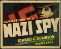 """Movie Posters:Drama, Confessions of a Nazi Spy (Warner Brothers, 1939). Half Sheet (22""""X 28""""). Style A. Drama.. ..."""