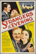 "Movie Posters:Mystery, Strangers of the Evening (Tiffany, 1932). One Sheet (27"" X 41"")Style B. Mystery.. ..."