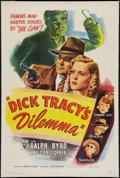 """Movie Posters:Crime, Dick Tracy's Dilemma (RKO, 1947). One Sheet (27"""" X 41""""). Crime....."""