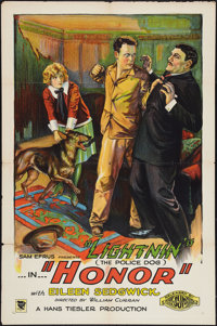 "Honor (Sun Pictures, 1926). One Sheet (27"" X 41""). Adventure"