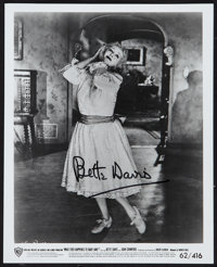 """Bette Davis in Whatever Happened to Baby Jane? (Warner Brothers, 1962). Autographed Photo (8"""" X 10""""). Horror..."""