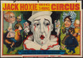 """Movie Posters:Western, Jack Hoxie Big 3 Ring Circus (Riverside Print Co, 1937). Poster (24"""" X 42"""") With Attached Title Snipe (5.5"""" X 41.5""""). Miscel..."""