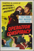 "Movie Posters:Mystery, Operation Conspiracy and Other Lot (Republic, 1957). One Sheets (2) (27"" X 41"") Flat Folded. Mystery.. ... (Total: 2 Items)"