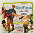 "Movie Posters:Drama, The Quiet Man (Republic, R-1957). Six Sheet (81"" X 81""). Drama....."