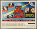 "Movie Posters:Science Fiction, From the Earth to the Moon (Warner Brothers, 1958). Half Sheet (22""X 28""). Science Fiction.. ..."