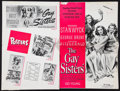 """Movie Posters:Drama, The Gay Sisters & Other Lot (Warner Brothers, 1942). Uncut Pressbook (20 Pages, 11"""" X 17"""") & Pressbook (16 Pages, 12.25"""" X 1... (Total: 2 Items)"""