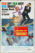 "Movie Posters:James Bond, On Her Majesty's Secret Service (United Artists, 1970) One Sheet(27"" X 41"") Style B. James Bond.. ..."