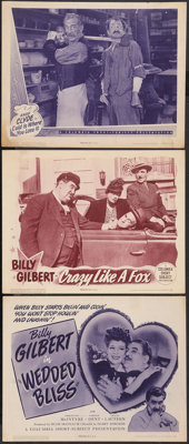 """Wedded Bliss & Others Lot (Columbia, 1944). Title Lobby Card & Lobby Cards (2) (11"""" X 14""""). Comedy..."""