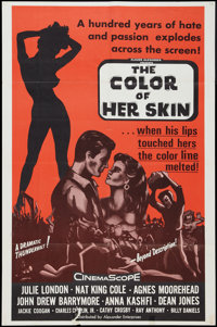 """The Color of Her Skin (Alexander Enterprises, R-1960s). One Sheet (25"""" X 38""""). Drama. Re-release of Night of t..."""
