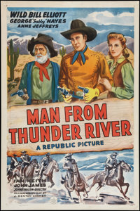 """Man from Thunder River (Republic, 1943). One Sheet (27"""" X 41""""). Western"""